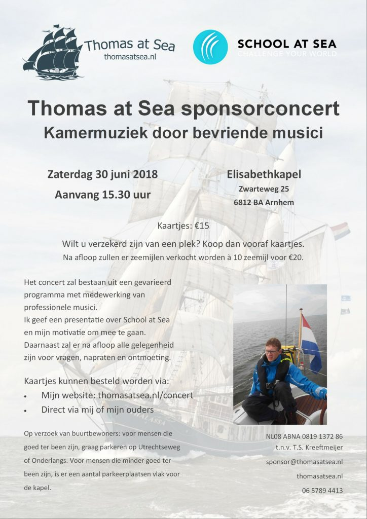 Thomas at Sea Concert poster